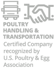 poultry handling & transportation certified company by U.S. Poultry & Egg Association